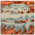 rug #1055542 | square orange abstract rug