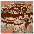 rug #1055546 | square orange abstract rug