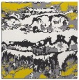 rug #1055654 | square yellow abstract rug
