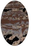 rug #1055714   oval black abstract rug