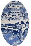 rug #1055746 | oval blue abstract rug