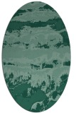 rug #1055754 | oval blue-green abstract rug