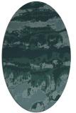 rug #1055774 | oval blue-green rug