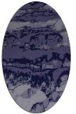 rug #1055790 | oval blue-violet rug