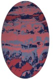 rug #1055796 | oval abstract rug