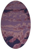 rug #1055798 | oval blue-violet graphic rug