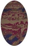 rug #1055806 | oval blue-violet graphic rug