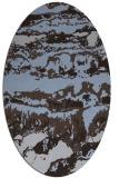 rug #1055810 | oval blue-violet graphic rug