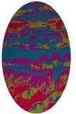 rug #1055823 | oval abstract rug