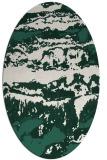rug #1055834 | oval green abstract rug
