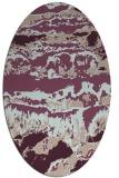 rug #1055865 | oval abstract rug