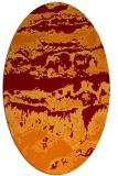 rug #1055902 | oval red-orange graphic rug