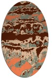 rug #1055914 | oval red-orange abstract rug