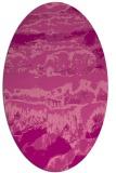 rug #1055918 | oval pink rug
