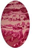 rug #1055926 | oval pink popular rug