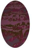 rug #1055934 | oval purple abstract rug
