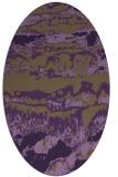 rug #1055942   oval purple graphic rug