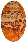 rug #1055970 | oval red-orange abstract rug