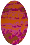 rug #1055974 | oval red-orange abstract rug