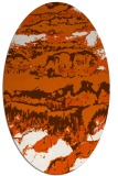 rug #1055978 | oval red-orange abstract rug