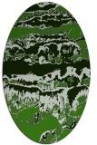 rug #1055982   oval green abstract rug