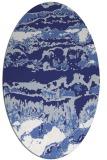 rug #1055994 | oval white abstract rug