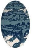 rug #1056006   oval white abstract rug