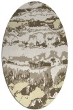 rug #1056018 | oval white graphic rug