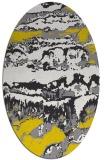 rug #1056022   oval yellow graphic rug