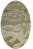 rug #1056038 | oval light-green rug