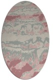 rug #1056054 | oval pink graphic rug