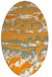 rug #1056058 | oval light-orange graphic rug