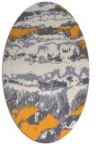 rug #1056062   oval light-orange abstract rug