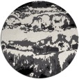 rug #1056438 | round black abstract rug