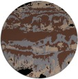 rug #1056450 | round brown abstract rug