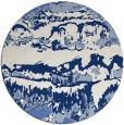 rug #1056482 | round blue graphic rug