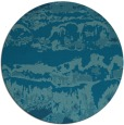 rug #1056486   round blue-green abstract rug