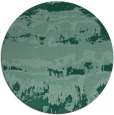 rug #1056490 | round blue-green abstract rug