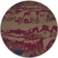 rug #1056542 | round blue-violet abstract rug