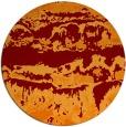 rug #1056638 | round red-orange graphic rug