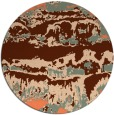 rug #1056650 | round red-orange abstract rug