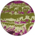rug #1056674 | round green abstract rug