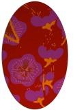 rug #105669 | oval red natural rug