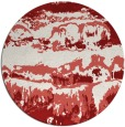 rug #1056694 | round red graphic rug
