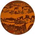rug #1056702 | round red-orange graphic rug