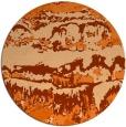 rug #1056706 | round red-orange graphic rug