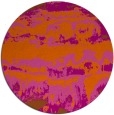 rug #1056710 | round red-orange abstract rug