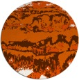 rug #1056714 | round red-orange abstract rug