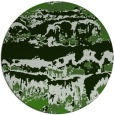 rug #1056718 | round green graphic rug