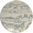 rug #1056738 | round beige rug